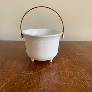 Milk Glass mini cauldron